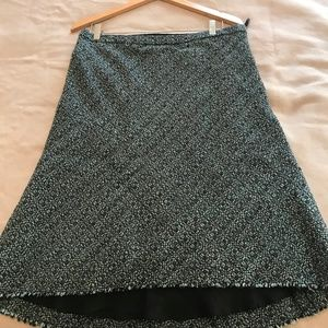 Banana Republic Green/Black Tweed skirt sz 12